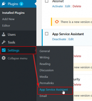 WordPress Assistant for App Service on Windows